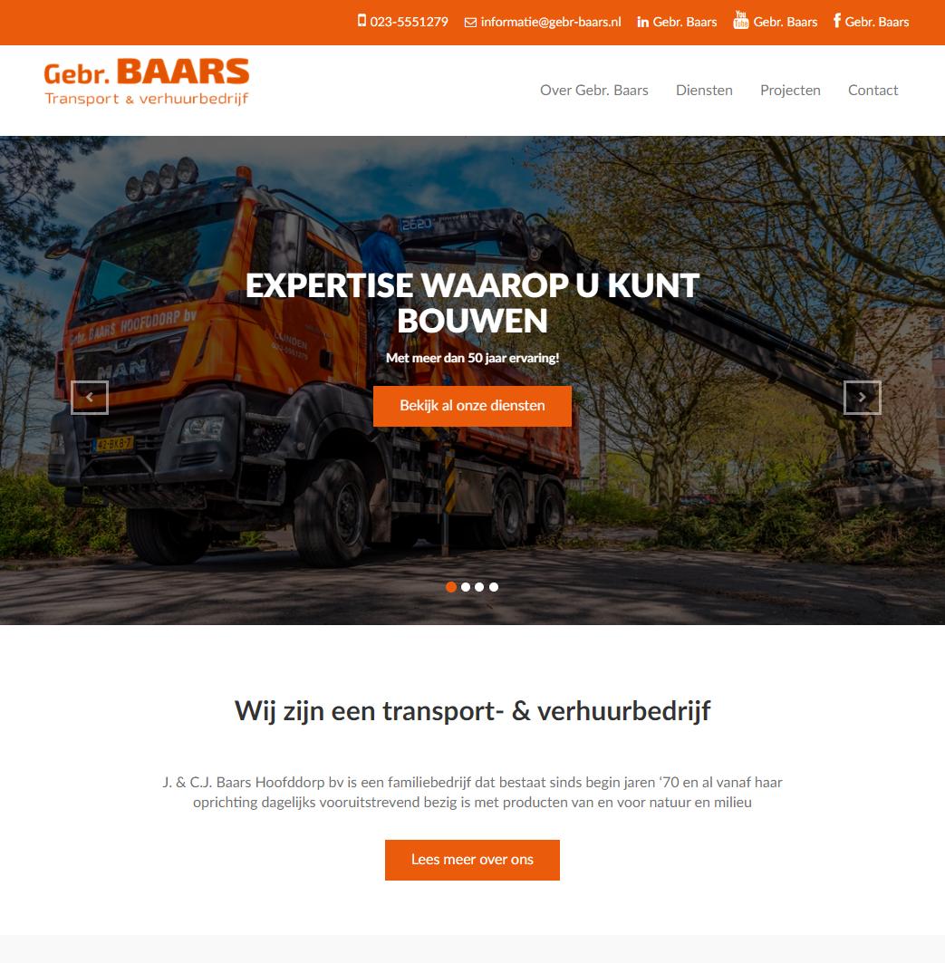Gebr baars homepage