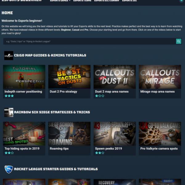 Esportsbeginner homepage