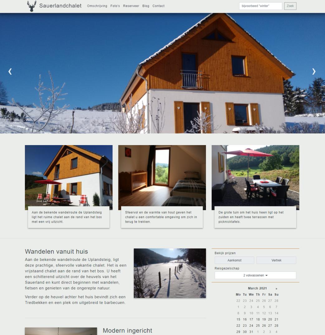 Sauerlandchalet homepage